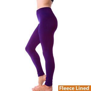 Women's Winter Warm Fleece Lined Legging Thick Full Length Slim Thermal Pants