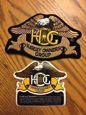 New HARLEY-DAVIDSON Owners Group HOG Embroidered PATCH & Reward STICKER, NOS