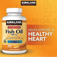 Kirkland Signature Omega-3 Fish Oil Concentrate 1000 mg 400 Softgels