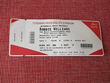 robbie williams used tickets X1,21ST JUNE 2017,PRINCIPALITY STADIUM,CARDIFF,(4)