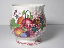Antique MASON'S FRUIT BASKET Red Multi Jam Jelly Preserves Pot NO LID England