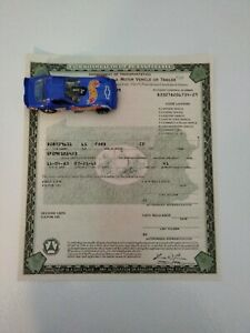 1965 Ford Mustang K-Code Fastback Paperwork Document
