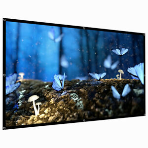 92inch Projection Screens Portable Folding Anti-Crease Indoor Outdoor Projector Movies Screen for Home Screen Size 60inch TelDen 4:3 HD Projector Screen 72inch 84inch