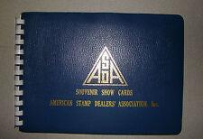 ASDA  SOUVENIR SHOW CARDS ALBUM W/ 5 SHOW CARDS , ANNUAL CONVENTIONS-1977 -83