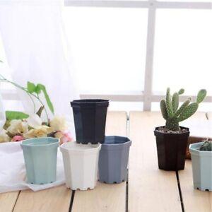 4pcs/Lot Smal Plastic Octagon Flower Pot Modern Home Office Desk Decorative Pots