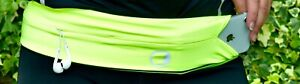 Large Yellow Lunabelt Flip Belt Running Hiking Trail Hydration Gym Workout Yoga