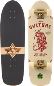 """Dusters California Culture Cruiser 8.75"""" Off White Factory Complete Skateboard"""