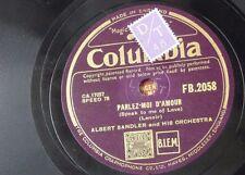 78rpm ALBERT SANDLER parlez-moi d`amour / play gypsy play