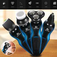 4 In1 Electric Razor Shaver Men Waterproof Cordless Rechargeable Beard Trimmer