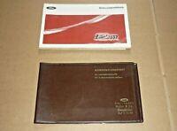 FORD 12M + Coupe + Turnier 1969 Betriebsanleitung Bedienungsanleitung Handbuch