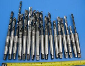 Imperial / Metric Flat Ground Morse Taper MT1 Drill Bits x 17 Dormer Cleveland