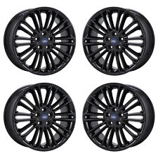 "18"" FORD FUSION BLACK WHEELS RIMS FACTORY OEM 2015 2016 2017 SET 4 3960 EXCHANGE"