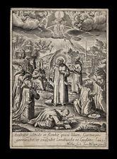 santino incisione 1600 S.BRUNO E BEATI DELL'ORDINE CERTOSINO