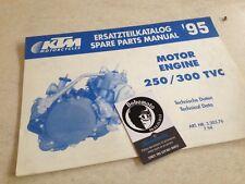 KTM 250 300 TVC 95 motor motor spare parts list lista piezas adosadas