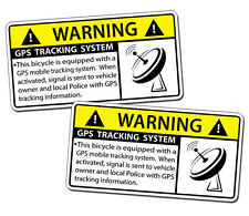 GPS Tracking Bicycle Sticker Bike Anti Theft Security Alarm Warning Alert Decal