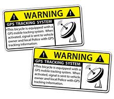 GPS Anti Theft Tracking Bicycle Security Warning Sticker Decal Bike BMX Tri OEM