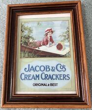 Jacob & Co's Cream Crackers Vintage Repo Advertise Framed