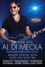 "AL DI MEOLA ""ELECTRIC TOUR 2016"" NEW YORK CONCERT POSTER - Jazz / World Fusion"