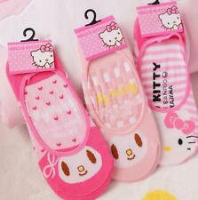 Hello Kitty&Melo​dy Sock Cotton Loafer Boat Invisible Socks Low Cut Sock 3 Pairs