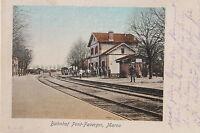 16882 Ak CPA Stazione Pont-Faverger Marne Binario Soldati Militare Alberi A 1915