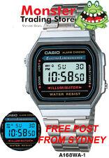AUSSIE SELER CASIO WATCH 80'S VINTAGE RETRO A168WA-1 A168WA A168 12-MNTH WARANTY