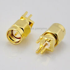 2pcs SMA male PCB Edge Mount Solder 0.062'' board Connector Adapter 1.6mm