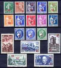 France 1941 Yvert n° 476 à 493 neuf ** 1er choix