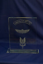 Special Air Service Regiment (SAS) crystal plaque Special Forces & LED Base