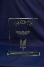 Special Air Service Regiment (SAS) crystal plaque Special Forces & LED Base