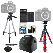 Tall and Flexible Tripod + Replacement EN-EL14 Battery + Cleaning Kit