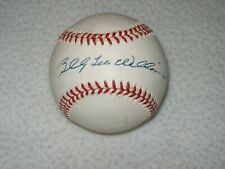 BILLY LEO WILLIAMS HOF SIGNED AUTOGRAPHED NL BILL WHITE BASEBALL CHICAGO CUBS