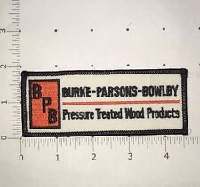 Burke Parsons Bowlby Patch - Pressure Treated Wood Products