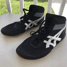 ASICS Marflex Men's Wrestling Shoes Black/Silver J100 Size 13 EUC