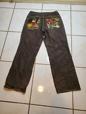 4 Fatherz 34x33 Hip Hop Denim Jeans IV Clown Embroidered Distressed PS609