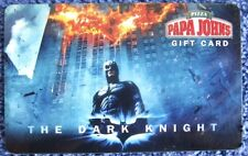 BATMAN THE DARK KNIGHT MOVIE Papa John's Pizza PROMO Reloadable Gift Card $0 Val