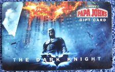 BATMAN THE DARK KNIGHT MOVIE Papa John's Pizza PROMO Reloadable Gift Card $0 Val
