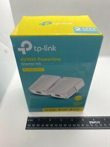 tp-Link AV 600 TL-PA4010 Powerline Adapter Starter Kit White 2 in the Pack