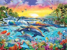 Jigsaw Puzzle Animal Fish Sea of Eden 300 EZ Grip over sized pieces NEW Dolphins