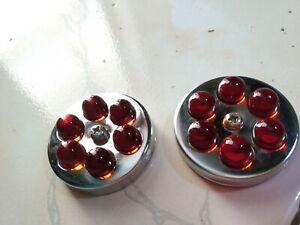 Vintage Marble Reflectors RED Cat eye Marble (4 cm diameter) 1 pair