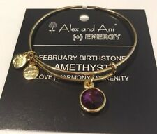 Authentic Alex and Ani FEBRUARY BirthStone In Shiny Gold ($28) NWT, Box & Card