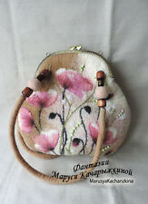 Sale, Discount, Felted floral purse, Shoulder bag, Felt handbag, Frame, Fashion