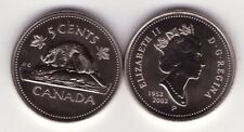 2002P 5 cent SPECIMEN Grade From RCM Specimen set