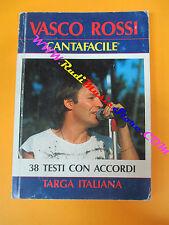 spartito VASCO ROSSI cantafacile 1987 TARGA ITALIANA CARISCH no cd lp mc dvd