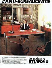 PUBLICITE ADVERTISING 0217  1978  les mobiliers de bureau Strafor