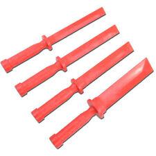 4pc Plastic Scraper Set For Removing Weights On Aluminium Rims Cars / Motorbikes