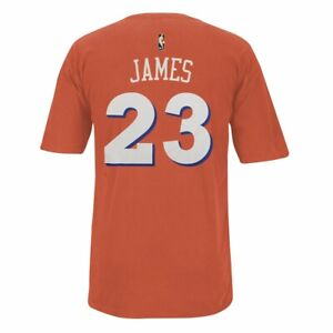 LeBron James Cleveland Cavaliers NBA Adidas Men Orange Player Name & Number