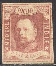 NETHERLANDS INDIES #1 Mint - 1864 10c Lake