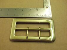 "4"" Solid Brass Middle Bar Santa Claus Belt Buckle"