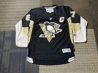 Reebok Sidney Crosby #87 Youth L/XL Black Penguins Jersey