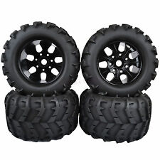 4PCS 150mm RC 1/8 Monster Truck Bigfoot Tires Tyre &17mm HEX Wheel Rim Hub 997BA